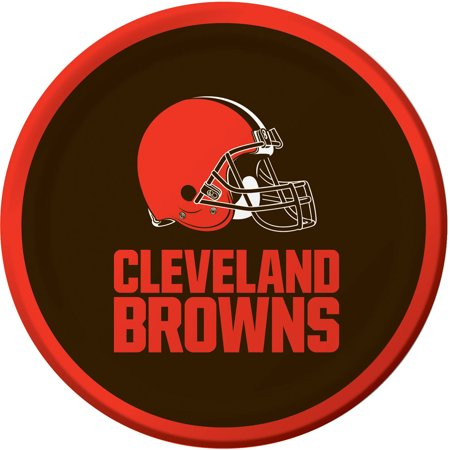 CREATIVE CONVERTING Cleveland Browns Dessert Plates, 8-Pack