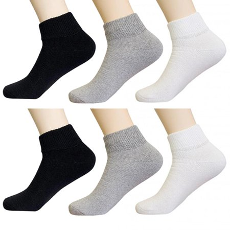 6 Pair Diabetic Ankle Circulatory Socks Health Support Mens Loose Fit Size