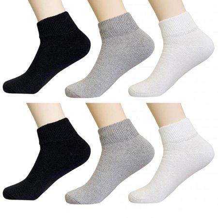 13 Diabetic Socks - 6 Pair Diabetic Ankle Circulatory Socks Health Support Mens Loose Fit Size 10-13