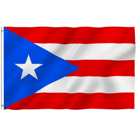 ANLEY [Fly Breeze] 3x5 Feet Puerto Rican Flag - Vivid Color and UV Fade Resistant - Canvas Header and Brass Grommets - Puerto Rica PR Banner Flags