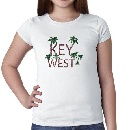 Key West - Best Travel and Spring Break Place Girl's Cotton Youth T-Shirt
