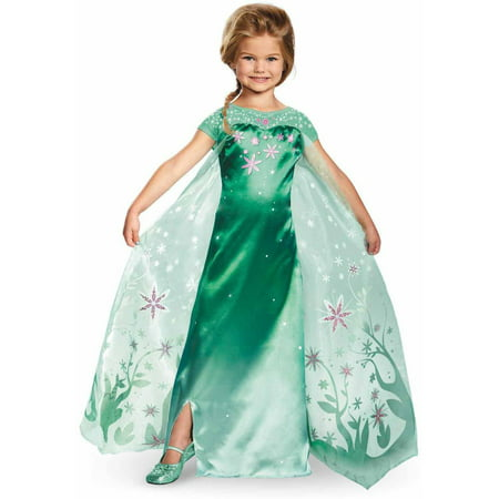 Elsa Frozen Fever Deluxe Child Halloween Costume - Elsa Halloween Costume Size 10-12