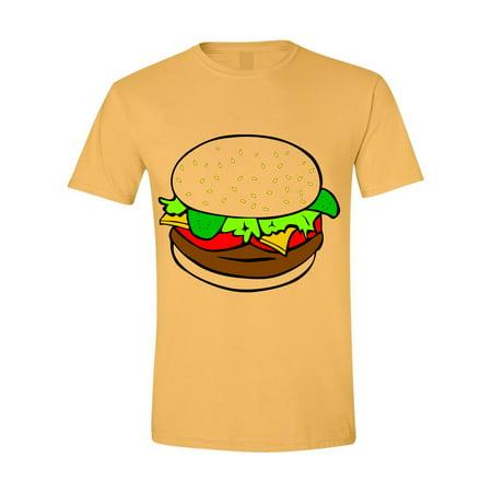 Allntrends Adult T Shirt Humburger Costume Cheeseburger Tshirt - Cheeseburger Costumes