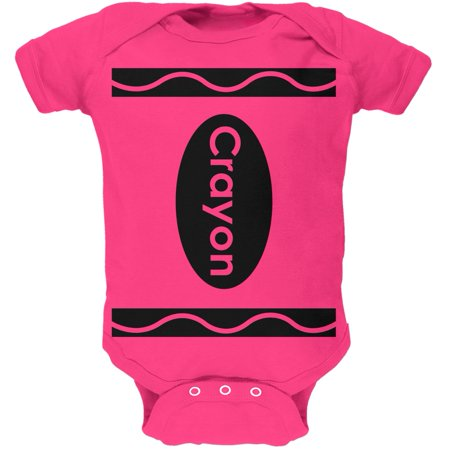 Cute 0-3 Month Halloween Costumes (Halloween Crayon Costume Hot Pink Soft Baby One Piece - 12-18)