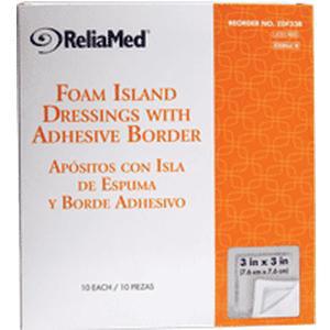 Sterile Latex Free Foam Island Dressing with Adhesive Border  3