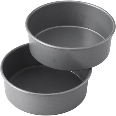 Wilton Treats Made Simple Non-Stick Cake Pan Set, Round, 6 in, 2-Count Layered Smash Cake -
