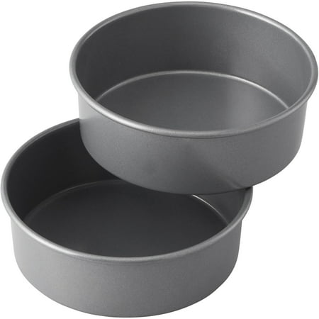 Wilton Treats Made Simple Non-Stick Cake Pan Set, Round, 6 in, 2-Count Layered Smash Cake Set ()