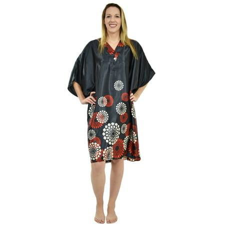 - Up2date Fashion's Women's Short Caftan / Kaftan / Muumuu / Mumu, Midnight Spheroid Print