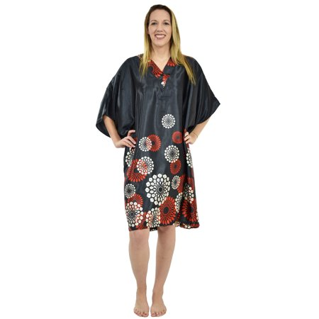 Up2date Fashion's Women's Short Caftan / Kaftan / Muumuu / Mumu, Midnight Spheroid (Sleeveless Muumuu)