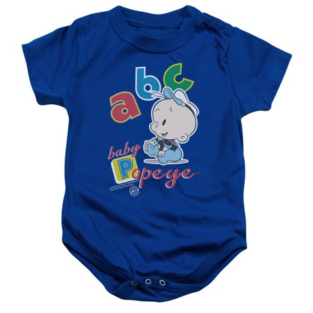Popeye/Abc   Infant Snapsuit   Royal    (24 Mos)  Pye630 - Halloween Royal Baby