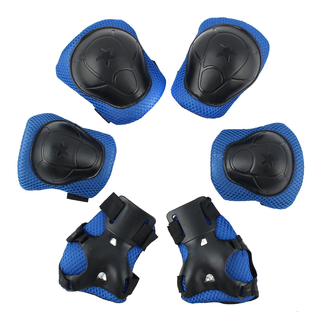 6pcs Skiing Skating Protetive Gear Wrist Guards Knee Elbow Pads Protector Set For Kids by Unique-Bargains