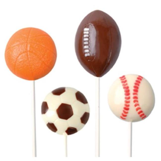 Make N Mold 0222 Sports Ball Pops Candy Mold- pack of 6