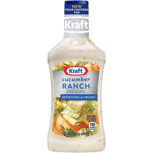 Kraft Salad Dressing: Dressing & Dip Cucumber Ranch, 16 Oz