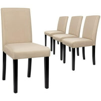 Walnew Set of 4 Dining Side Chairs With Upholstered Wood Legs