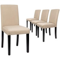 Walnew Set of 4 Modern Upholstered Dining Chairs w/Wood Legs