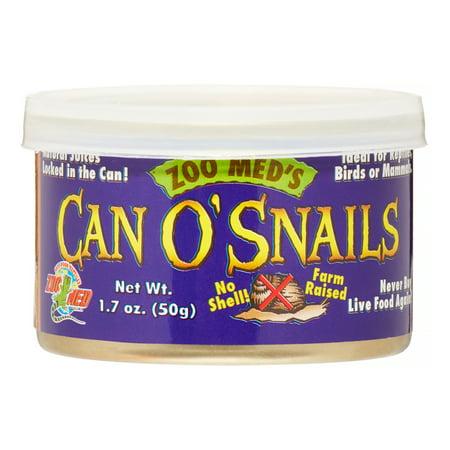 Zoo Med Can O' Snails Reptile, Bird & Mammal Food, 1.7 oz