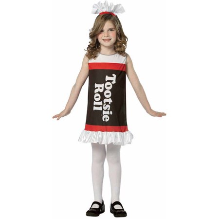 Tootsie Roll Tank Dress Child Halloween Costume - Tootsie Roll Dress