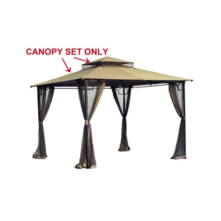 Sunjoy Replacement Canopy set for L-GZ136PST-8 10X10 gazebo
