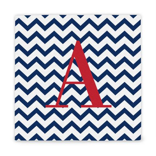 Personalized Chevron Pattern Wrapped Canvas I