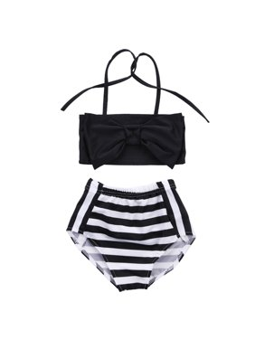 ba4dc35d2e43f Product Image 2Pcs Baby Kids Girl Bowknot Bikini Set Swimwear Strappy Swimming  Swimsuit Bathing Suit 2-3
