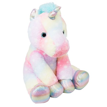 Holiday Time Rainbow Unicorn Plush, 13