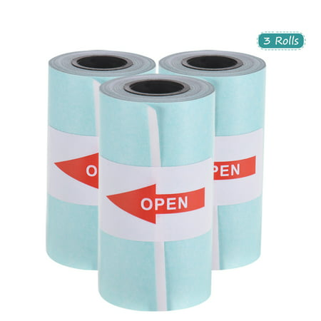 Printable Sticker Paper Roll Direct Thermal Paper with Self-adhesive 57*30mm(2.17*1.18in) for PeriPage A6 Pocket Thermal Printer for PAPERANG P1/P2 Mini Photo Printer, 3 Rolls
