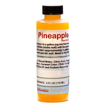 Pineapple Shaved Ice and Snow Cone Flavor Concentrate 4 Fl Ounce (Pineapple Syrup)