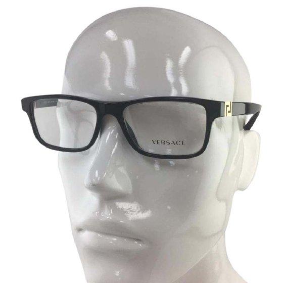 b3269f4d67 Like New Versace MOD 3211 GB1 Black Gold Plastic Eyeglasses 55mm -  Walmart.com