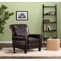 Dorel Living Faux Leather Club Chair, Multiple Colors, (Brown)
