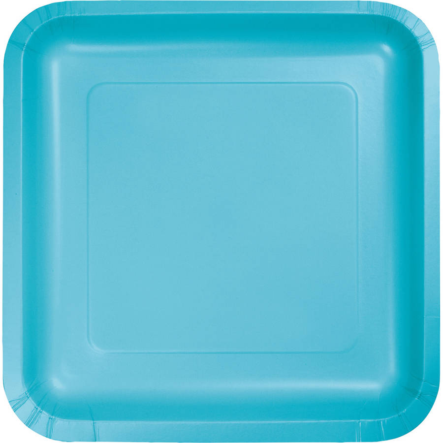 Bermuda Blue Square Dessert Plates, 18-Pack