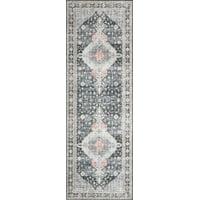 Loloi II Skye Oriental Grey / Multi Printed Area Rug