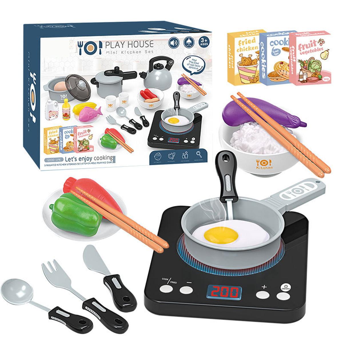 36pcs Children Mini Kitchen Toys Food Cookware Pot Pan Cooking Play House Walmart Com Walmart Com
