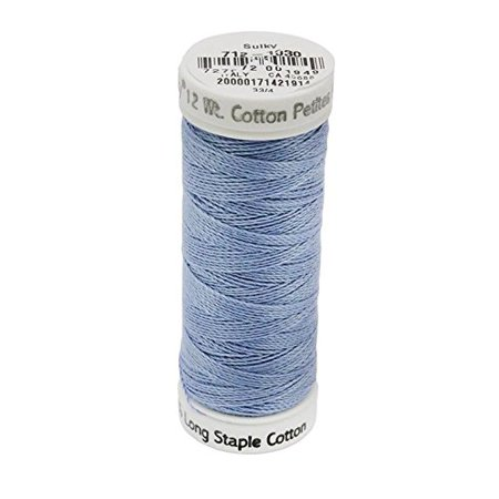 12wt Cotton Petites Thread, 50 yd, Periwinkle, Make a more beautiful, bolder statement on your quilting, serging, embroidery, handwork and other decorative.., By Sulky Of (Periwinkle Thread)