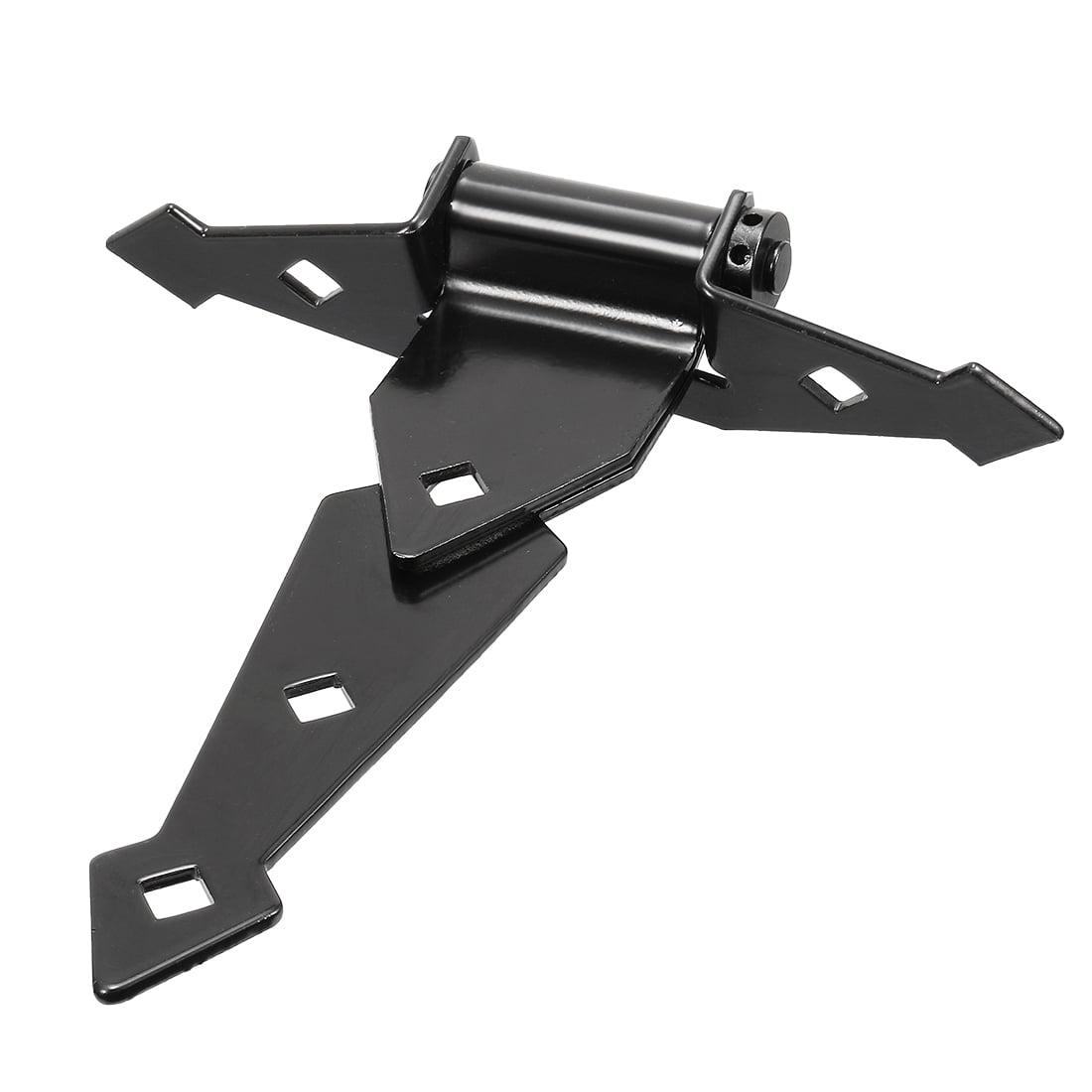 "Unique Bargains 8"" Carbon Steel Zinc Plated Rustproof Thicker 44lbs T Strap Door Hinge Black - image 2 of 4"