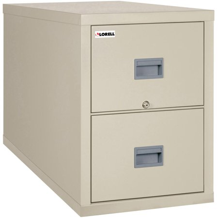 Lorell White Vertical Fireproof File Cabinet 20 9 X 31 6 27 8 2 Drawer S For Legal Fire Proof Lockable Water Resistant