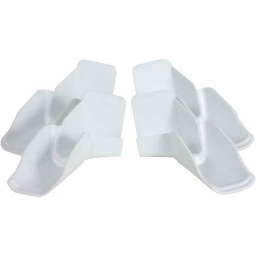 Camco Gutter Spout with Ext, White, 4-Pack (2 Left/2 Right)