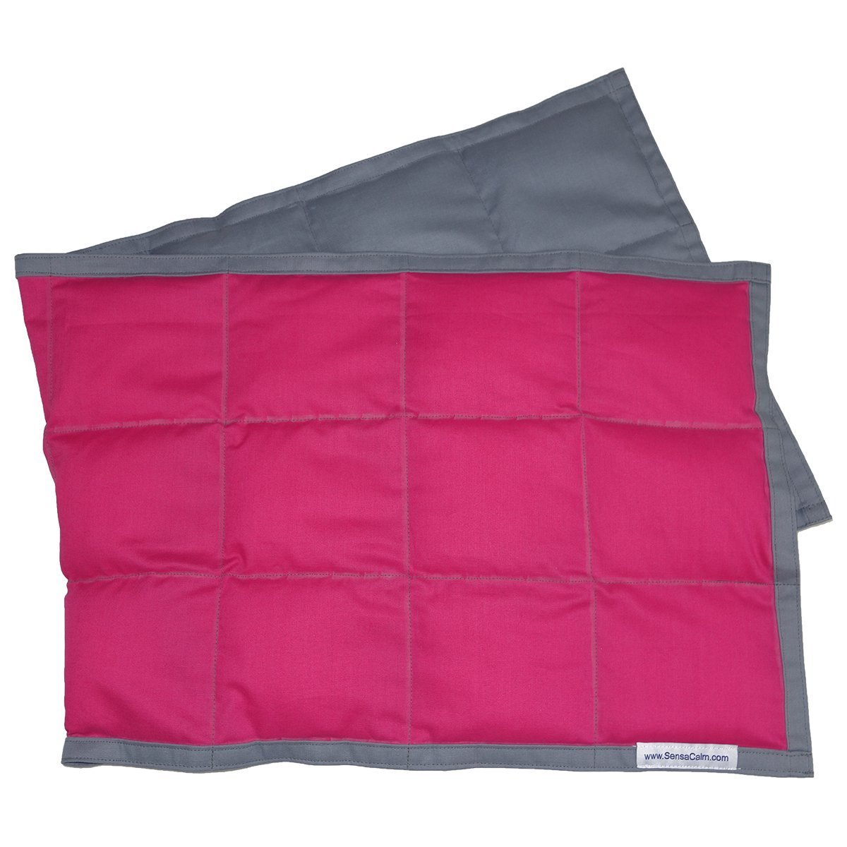 SensaCalm Raspberry w/ Volcanic Gray - Weighted Wrap (5 lb)