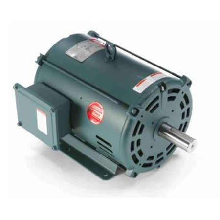 213t Frame Rigid Base - 10 hp 3510 RPM 213T Frame 208-230/460V Open Drip Leeson Electric Motor # 140753