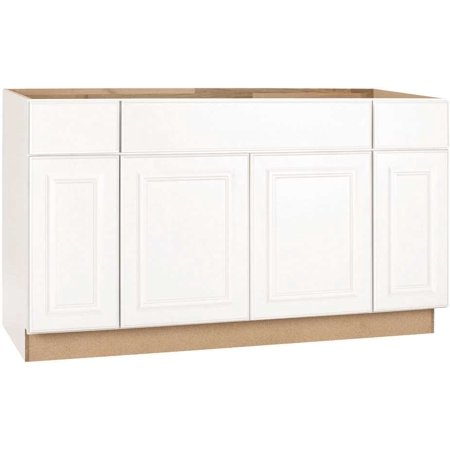 RSI HOME PRODUCTS SALES CBKSB60-SW White Finish Assembled Sink Base Cabinet,