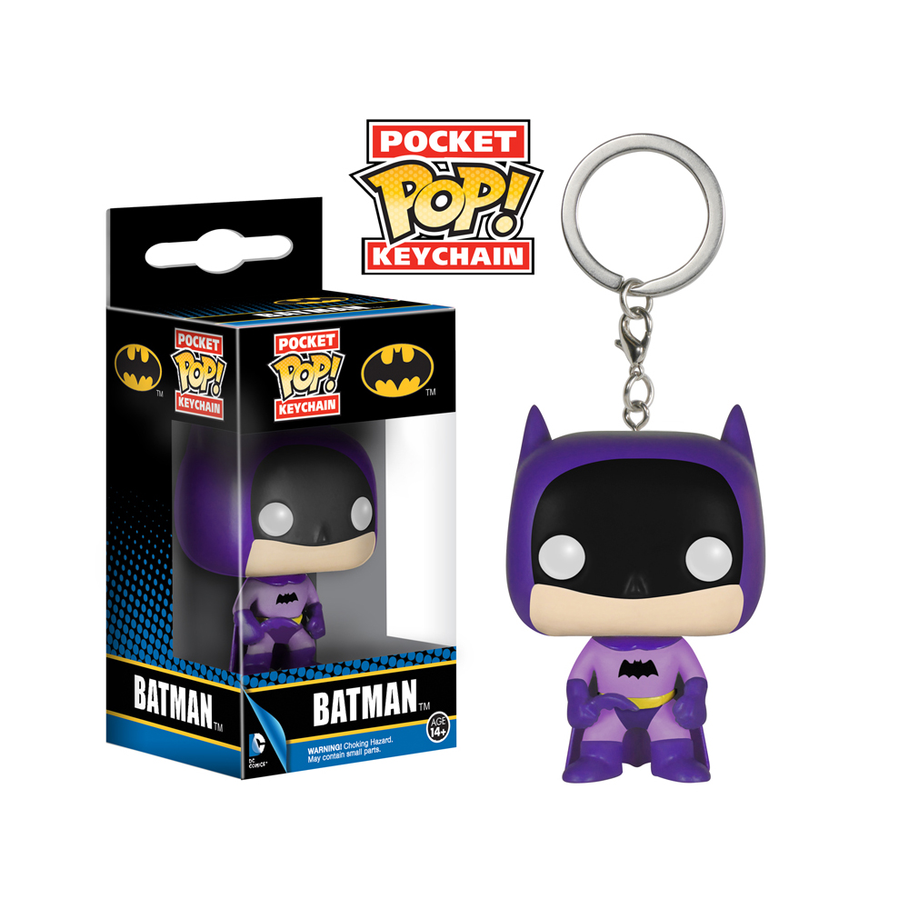 "FunKo POP! 75th Anniversary Purple Batman 1.5"" Keychain"