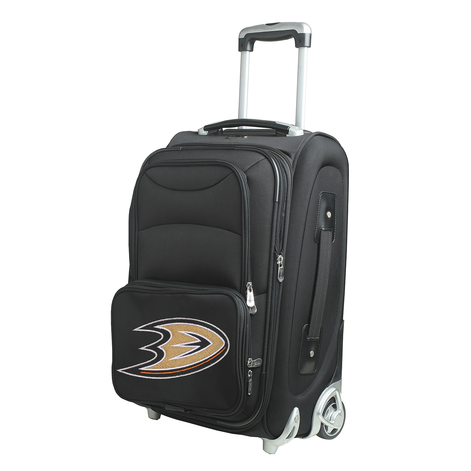NHL Anaheim Mighty Ducks Luggage Carry-On 21In Rolling Softside Nylon