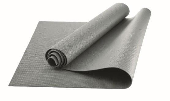 Athletic Works Yoga Mat, Grey, 3mm