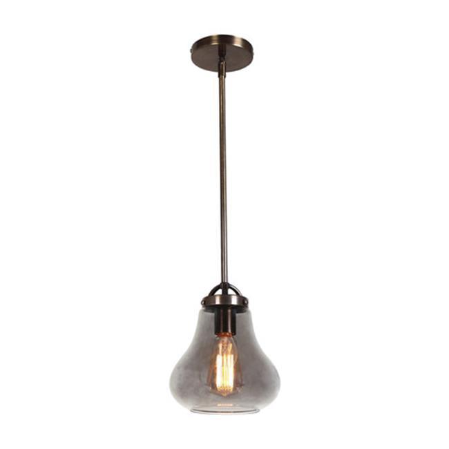 Access Lighting 55545LEDDLP-DBRZ-SMK 8 in. Flux 1 Light Dark Bronze Pendant Ceiling Light in Smoke - image 1 of 1