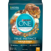 [Multiple Sizes] Purina ONE Natural, Grain Free Dry Cat Food, True Instinct Grain Free With Real Chicken