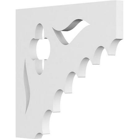 Ekena Millwork BKTP01X08X08WE Wellington Bracket - 0.62 x 8 x 8 in. - image 1 of 1