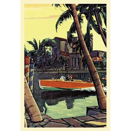 28 ft. Speedster (Dodge Boats)-Fine Art Canvas Print (20