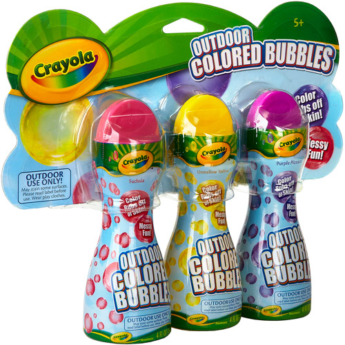 Crayola Colored Bubbles, 3-Pack