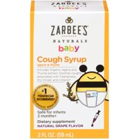 Zarbee's Naturals Baby Cough Syrup with Agave & Thyme, Natural Grape, 2 fl oz