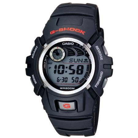 G-shock Stopwatch - Casio Men's G-Shock Watch With Afterglow Backlight, Black Resin
