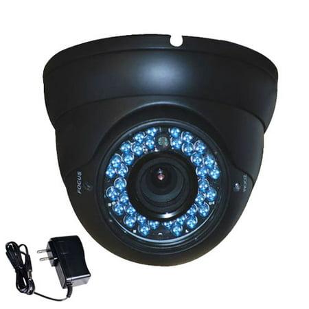 Vandal Proof Infrared 36 Led - VideoSecu CCTV Indoor Outdoor Weatherproof IR Day Night Vision 36 LEDs 4-9mm Varifocal Lens CCD Security Camera with Power Supply for Surveillance DVR System bdt